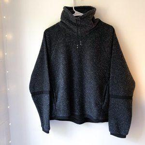 Nike Fuzzy Black Sherpa High Neck Pullover Medium